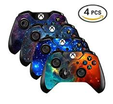 Amazon Com Uushop Vinyl Skin Sticker Decal Cover For Microsoft Xbox One Controller Galaxy Starry 4 Differences Style Not For One S Or X Video Games