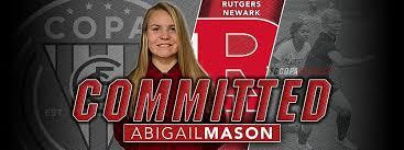 ABIGAIL MASON, CLASS OF 2020, COMMITS TO RUTGERS NEWARK!