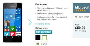 no contract microsoft lumia 550 for 69