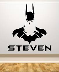 Batman Personalized Large Wall Vinyl Decal W Name 22 Tall Your Choice Of Color Ebay