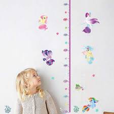 The My Little Pony Height Measure Wall Stickers Vinyl Decals Kids Room Girl Growth Chart Bedroom Accessories Home Decor 60 30cm Wall Stickers Aliexpress