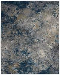 nourison artworks atw02 blue grey area