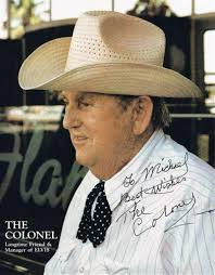 Colonel Tom Parker autograph | Paul Fraser Collectibles