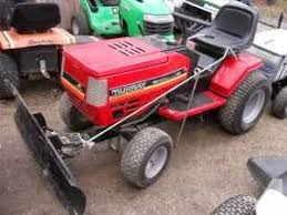 lawn tractor with a 46 inch snow plow