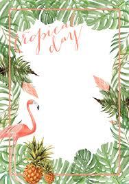 Tropical Party Inspiration Plage Invitaciones De Fiesta