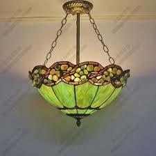 mediterranean painted glass chandelier