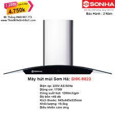 Máy Hút Mùi Sơn Hà SHK-9823 - Tổng Kho Sơn Hà Hà Nội