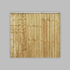 6ft X 5ft Featheredge Fence Panel Pack Of 10