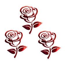 1pcs 10 8cm 3d Silver Golden Stereo Cutout Rose Car Vehicle Pvc Logo Reflective Car Sticker Decal Flowers Art Wish