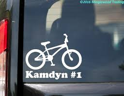 Bmx Bike With Personalized Name Vinyl Decal Sticker 5 5 X 4 5 Bicycle Racing Minglewood Trading