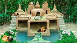 guinea pig house with 7 towers temple