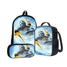 Zane Ninja of Ice Lego Ninjago Back To School Set Pencil Case Bag ...