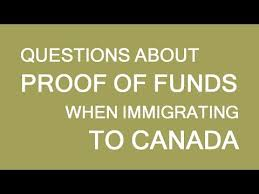 proof of funds for immigration visa to