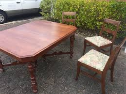 depression era dining table 3 chairs
