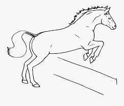 Horse Fence Clipart Draw A Jumping Horse Free Transparent Clipart Clipartkey