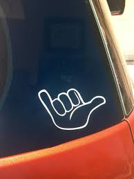 Shaka Vinyl Car Window Decal Hawaii Sticker Etsy