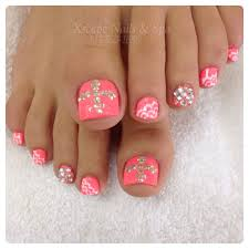 14 bling toe nail designs images