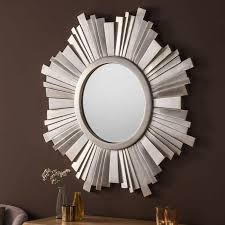 contemporary wall mirror sunburst