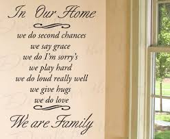 In Our Home We Do Second Chance Say Grace I M Sorry S Love Home Family Wall Decal Quote Decorative Vinyl Sticker Graphic Art Letters Lettering Decor Saying Decoration Gracegreenohxi