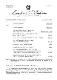 Comune di Guarcino – NUOVE RESTRIZIONI PER IL CONTENIMENTO DEL VIRUS COVID -19