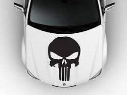 The Punisher Skull Logo Hood Car Decal Race Sports Grpahics Wrap Art Sticker B78 Ebay
