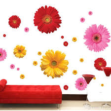Daisy Flower Living Room Vinyl 3d Wall Stickers Window Decor Bedroom Kitchen Wall Decals Home Sticker Wall Decals Art Wall Decals Canada From Kity12 2 02 Dhgate Com