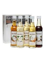 monin coffee syrup gift set 5 x 50ml ebay