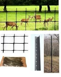 Deer Fence Kit 165 Ft Netting Steel Posts And Cable Ties Garden Fencing Ebay