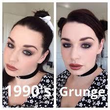 grunge glam 1990s makeup tutorial