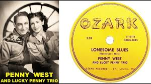 PENNY WEST & Lucky Penny Trio - Lonesome Blues / Needle In A Haystack  (1956) - YouTube