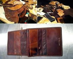 baseball wallets made from recycled mitts