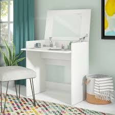 modern makeup table with mirror