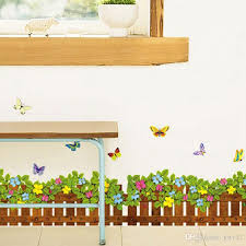 New Arrival Grass Flowers Butterfly Wall Stickers Cartoon Wall Decals For Kids Room Home Decor Nursery Wall Decal Nursery Wall Decals From Kity12 2 92 Dhgate Com