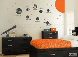 Planets Wall Decal Solar System Vinyl Wall Decor Outer Etsy