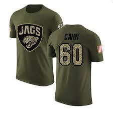 Men's A.J. Cann Jacksonville Jaguars Legend Olive Salute to Service T-Shirt