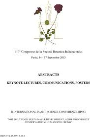 110 Congresso della Società Botanica Italiana onlus. Pavia ...