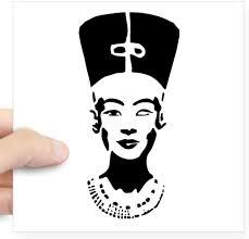 Amazon Com Cafepress Nefertiti Stencil Symbol Square Sticker 3 Quot X Square Bumper Sticker Car Decal 3 X3 Small Or 5 X5 Large Automotive