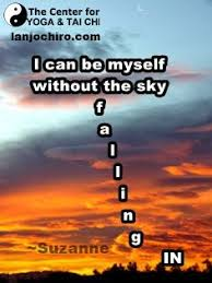 i can be myself out the sky falling in suzanne health