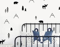 Forest Wall Decals Etsy