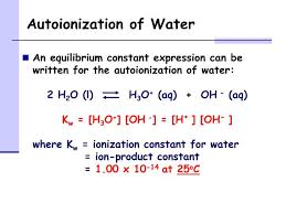 autoionization of water chemical