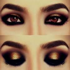 makeup for brown eyes and black dress