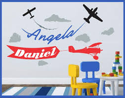 Airplane Decal Airplane Name Decal Wall Decal Vinyl Sticker Etsy