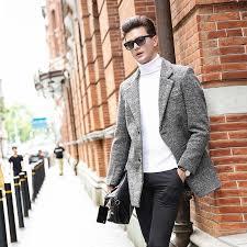 Satın Al Moda Marka Giyim Erkek Yün Ceket Iş Rahat Erkek Bezelye Ceket Üst  Sınıf Yün Karışımları 2018 Kış Ceket Adam Siper, TL904.8 | DHgate.Comda