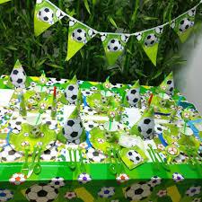 Conjunto De Decoracion Para Fiesta De Cumpleanos De Futbol Ninos