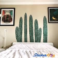 Cactus Desert Cacti Nature 1 Wall Decals Graphic Vinyl Sticker Bedroom Living Room Wall Home Decor