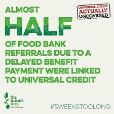Image result for food banks universal credit