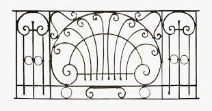 Iron Fence Png Wrought Iron Balcony Railing Png Free Transparent Clipart Clipartkey
