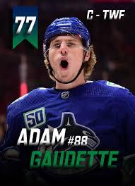 Random card I made for Adam Gaudette : canucks