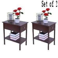 bedside table drawer storage decor