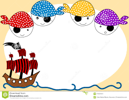 Piratas Y Tarjeta De La Invitacion Del Partido De La Nave Stock De